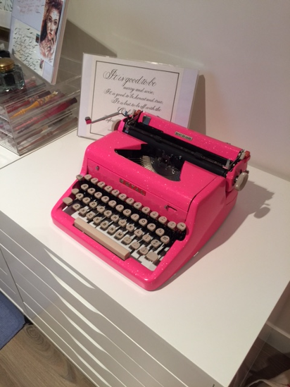Hot Pink Typewriter