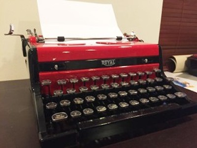 Red and Black Typewriter