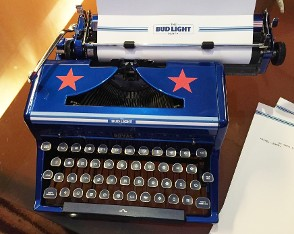 Blue Typewrite with Stars
