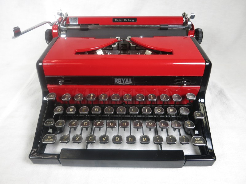 Royal Quiet Deluxe Red typewriter