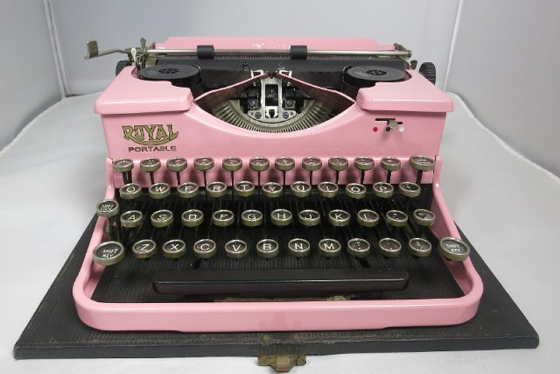 Royal Pink Typewriter #14