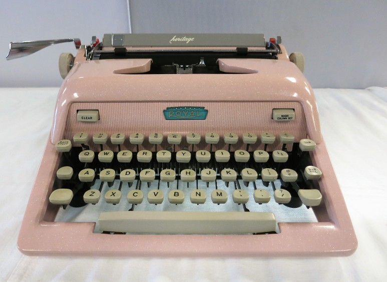 Royal Pink Typewriter #42