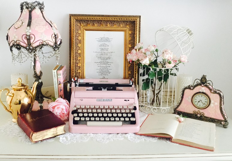 Royal Light Pink Typewriter