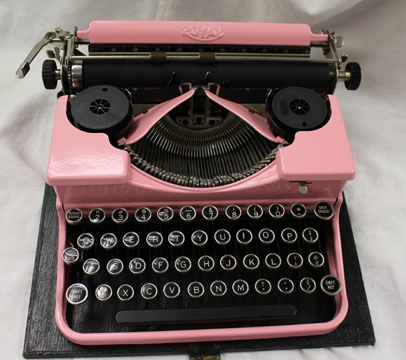 Royal 1920's Pink Typewriter