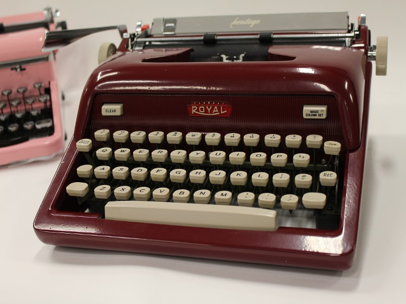 Dark Red Royal Typewriter