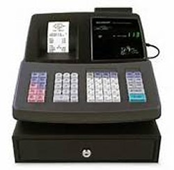 sharp cash register, cash register paper, cash register roll, cash register supplies, royal cash register