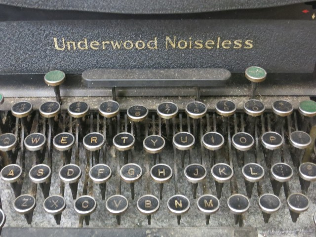 Underwood Keys Close Up Before